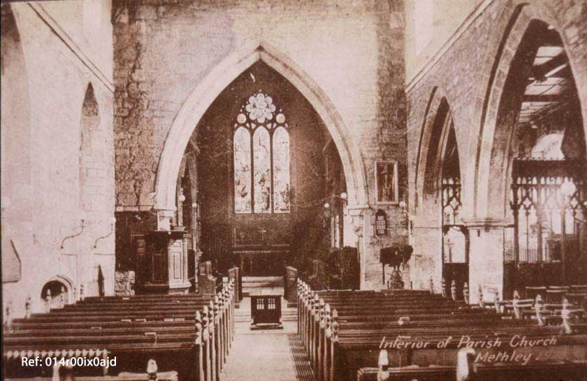 The interior of St. Oswald's Church c.1924