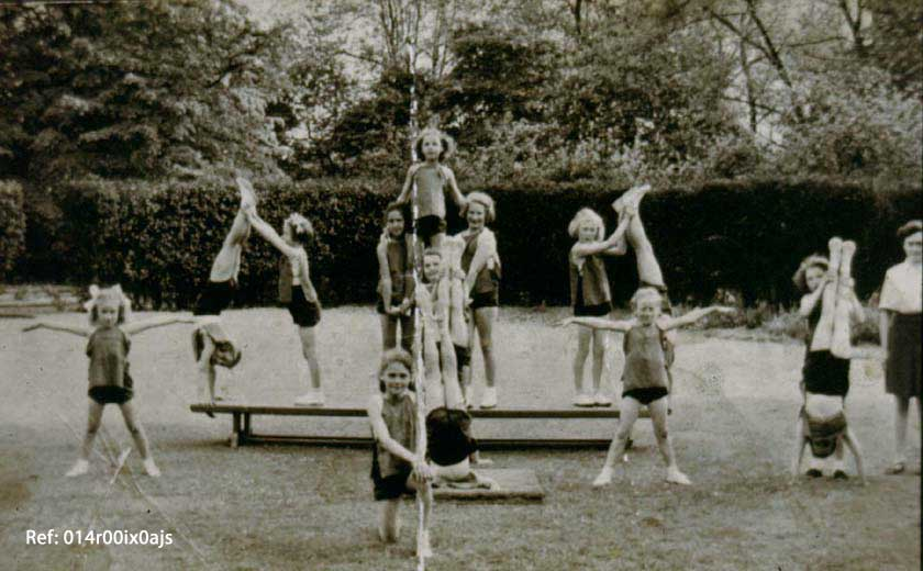 Gymnastic display methley 1950's