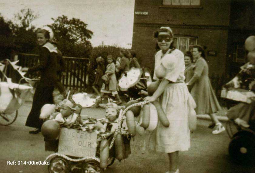 methley Villagers in Carnival procession