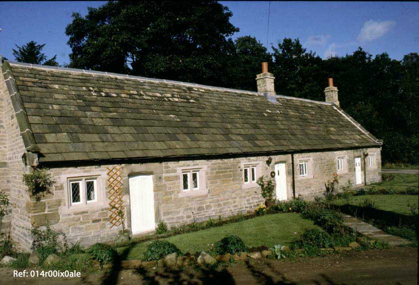 Restored almshouses at Woodend.