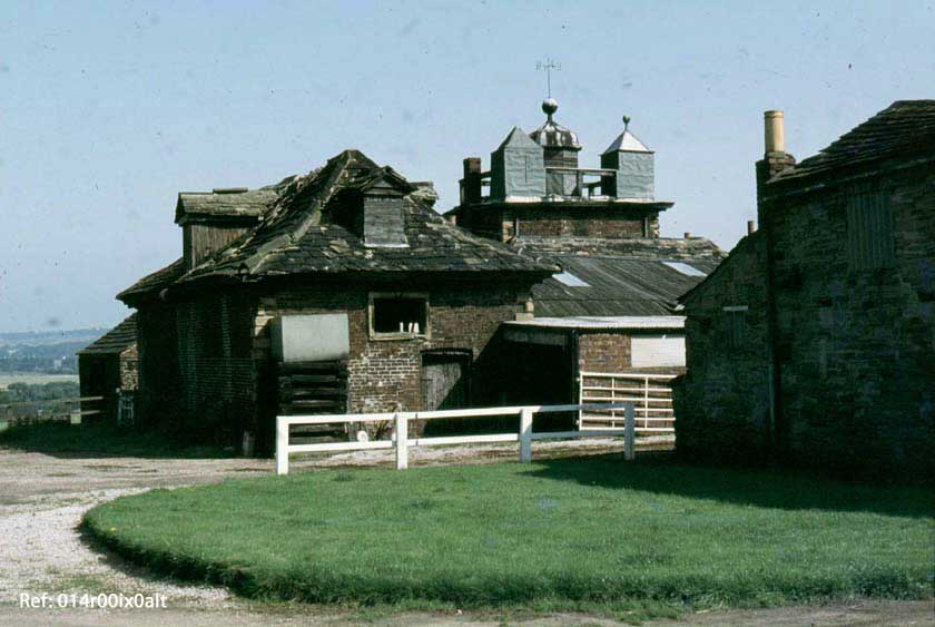 Rear view of the Gazebo, Clumpcliffe Farm, with old stables