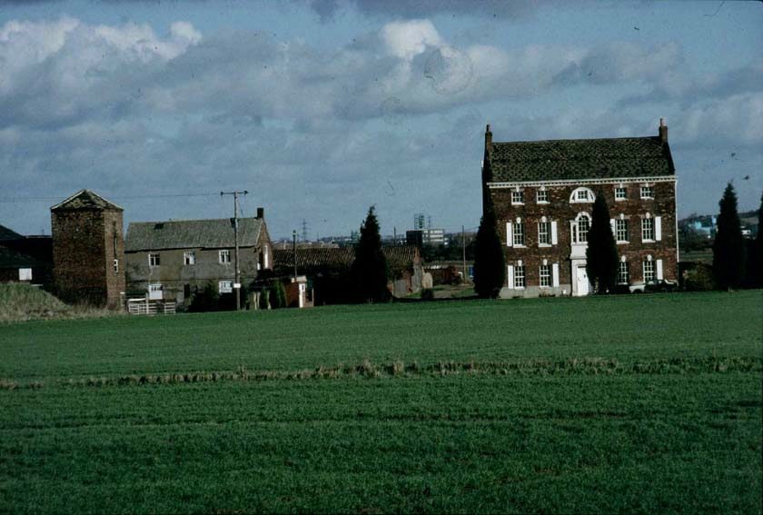 Dunford House and outbuildings, March 1990.