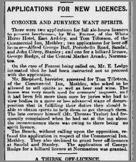 Coroner And Jurymen Want Spirits