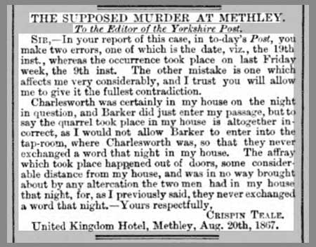 The Supposed Murder At Methley