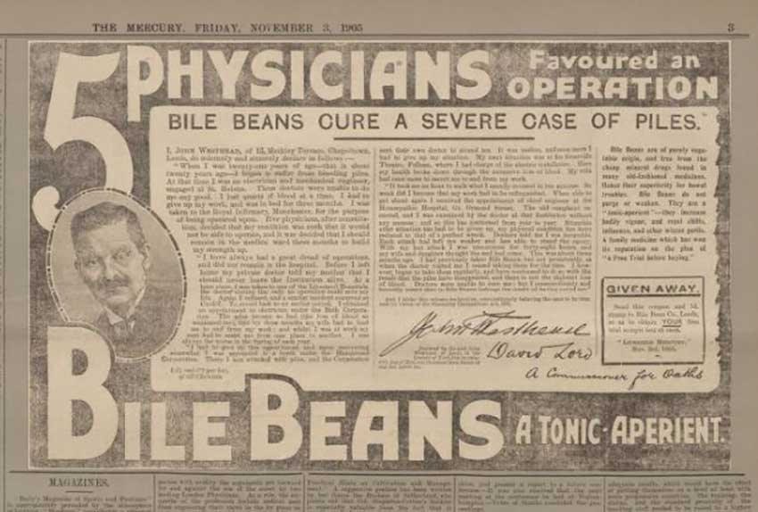 Bile Bean Advert