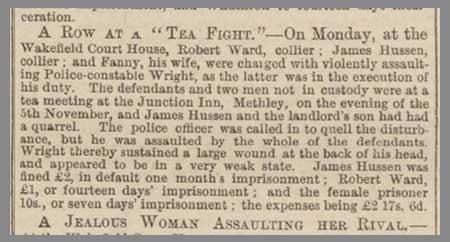 a row at a tea fight