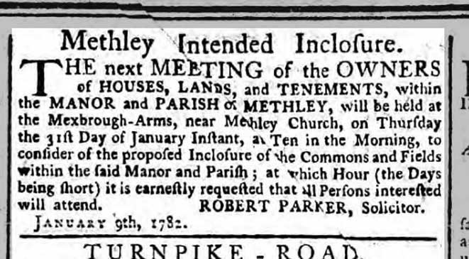 Methley Intended Inclosure