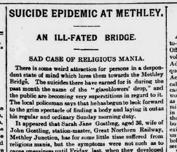 SUICIDE EPIDEMIC AT METHLEY