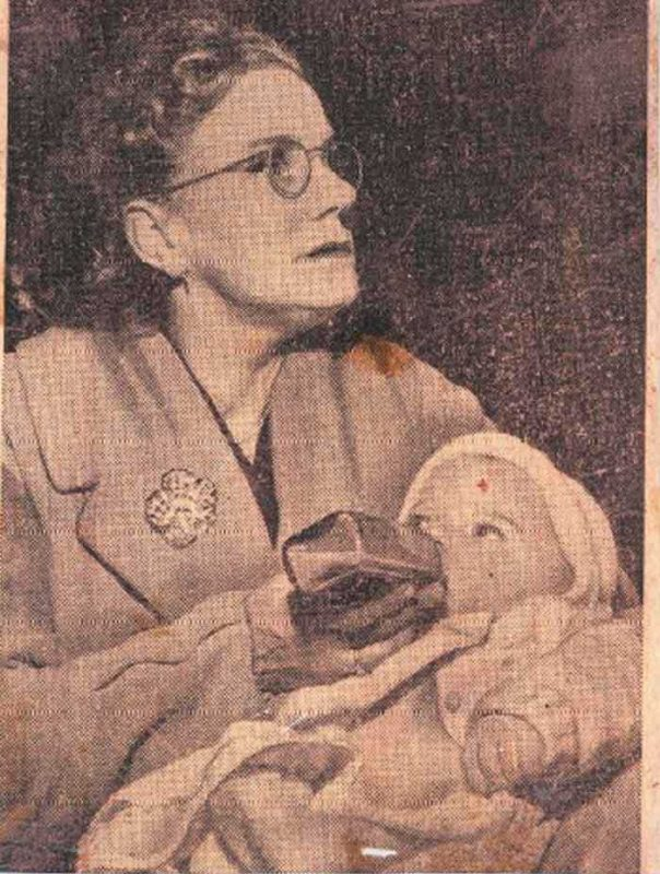 Connie Wolfenden and baby Colin