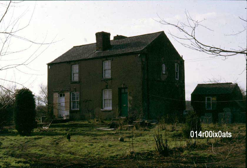 Watergate Floods. Two cottages which survived the flooding.